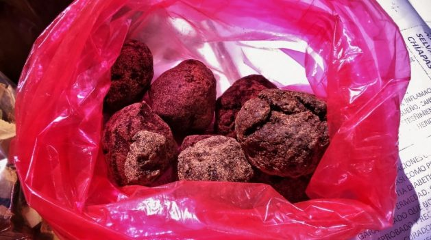 natural chocolate bought in Chiapas from Mayan family