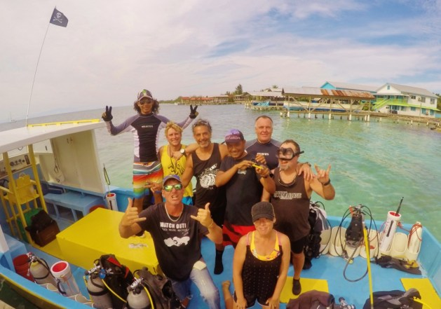 fun dive with dive staff and DMT's