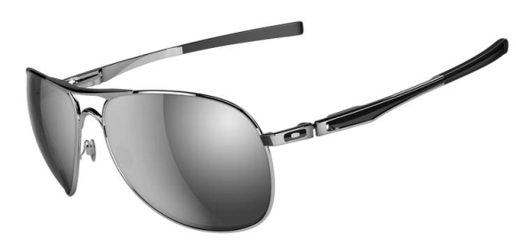 $270 Oakley Plaintiff SKU# OO4057-03 Polished Chrome/Chrome Iridium