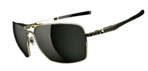 $260 Oakley Plaintiff Squared SKU# OO4063-02 Polished Gold/Dark Grey