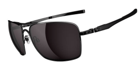 $260 Oakley Plaintiff Squared SKU# OO4063-01 Polished Black/Warm Grey