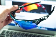 unobtainium parts of Oakley RadarLock Mark Cavendish Signature Series Path detailed view