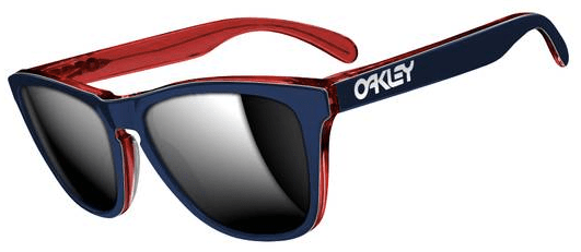 $210 Oakley FROGSKINS® LX SKU# OO2043-05 Color: Navy/Chrome Iridium