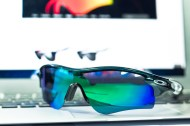 front of Oakley RadarLock Mark Cavendish Signature Series Path detailed view
