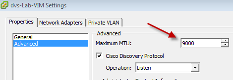 Configuring Jumbo Frames on a VMware Distributed Switch