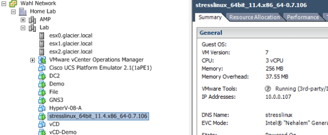 Stress Testing CPU Loads on vSphere with StressLinux - Wahl