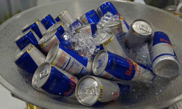 Delicious Red Bull served in the Social Media Hub