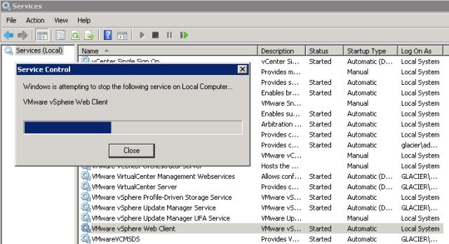 stop-vsphere-web-client