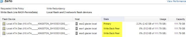 Primary and Peer hosts for this VM workload