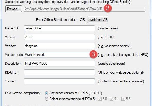 Creating a new offline bundle from a VIB file