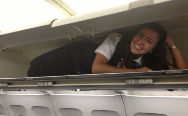 Much like overhead bins in an airplane, the ... hey, get out of my overhead bin!