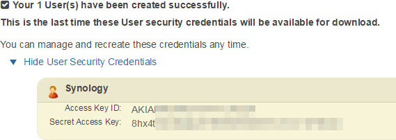 Synology User Credentials
