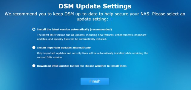 DSM 5.1 Intro Screen