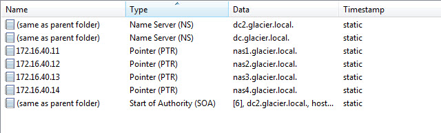 PTR Records for NAS Boxes