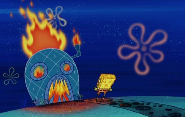 spongebob-fire