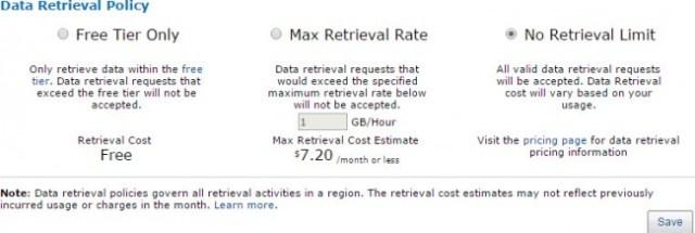 Data Retrieval Policy Options
