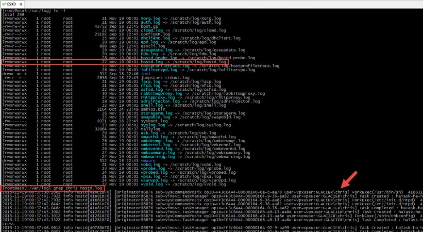 grep-hostdlog-file