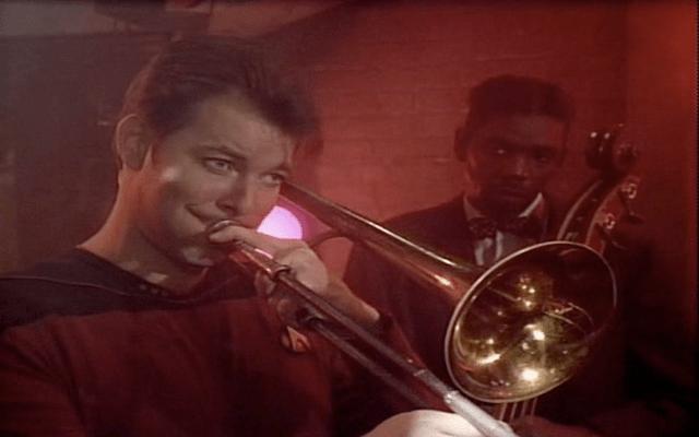 Riker loves to play the sad trombone