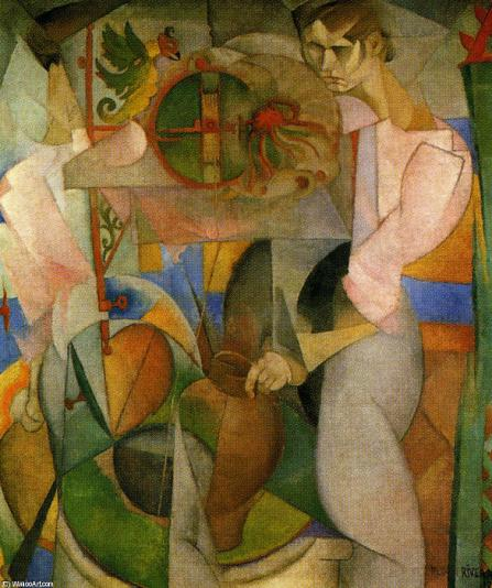 Woman at a Well, 1913 by Diego Rivera (1886-1957, Mexico)     WahooArt.com