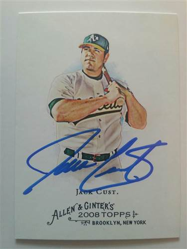 Jack Cust 2008 Allen and Ginter
