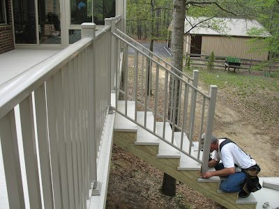 aluminum deck railing ideas cost per foot maintenance system rot splinter lose reliability time kits canada