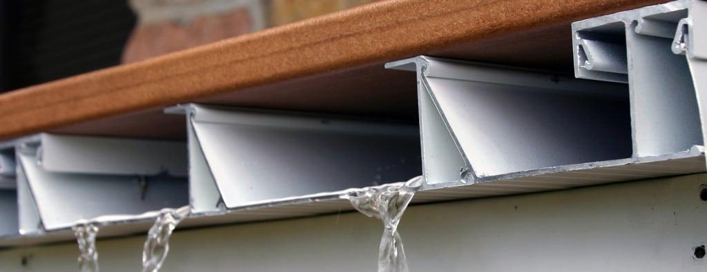 Aluminum Decking Amp Deck Rail Deck Drainage System