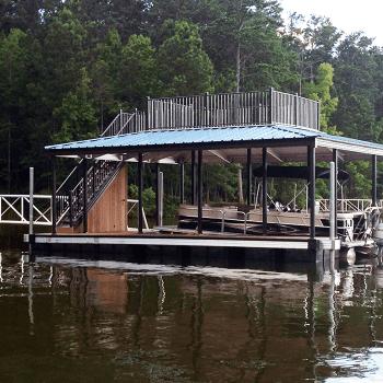 elegant details of wahoo aluminum docks