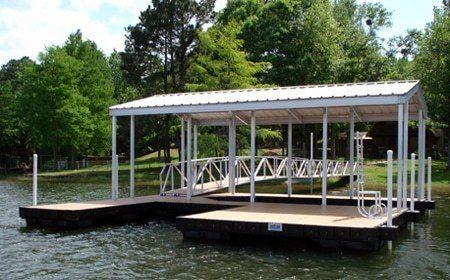 Wahoo aluminum boat dock side slip v