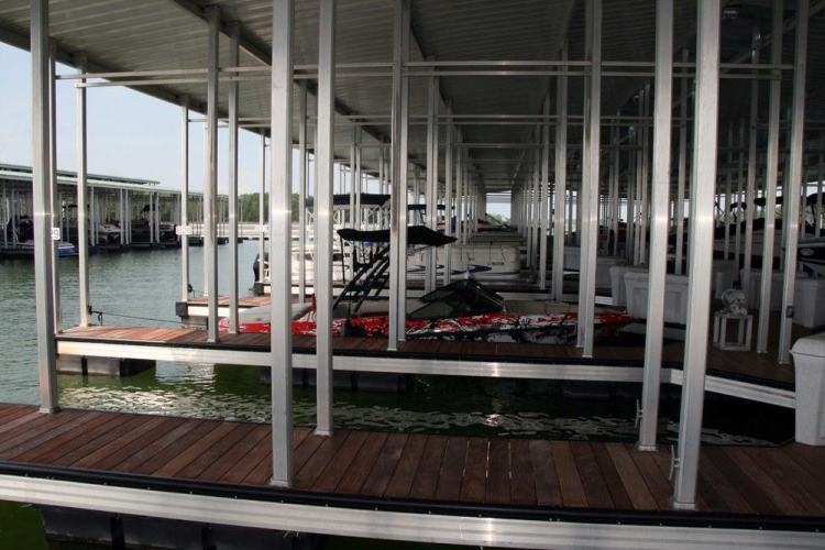 wahoo aluminum docks commercial dock with aluminum poles and ipe decking