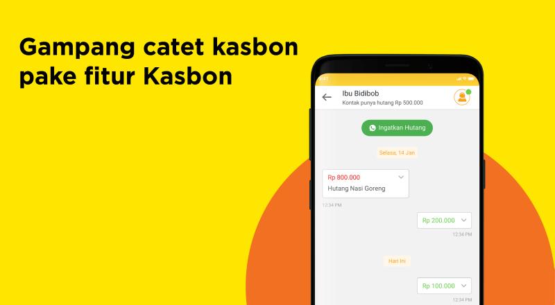 Fitur Kasbon aplikasi Wahyoo Warung