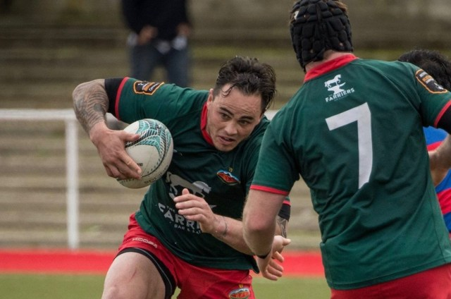 Former All Black Zac Guildford showed his class in Farriers Wairarapa-Bush's 44-22 win over East Coast in Masterton tonight. Photo: JADE CVETKOV