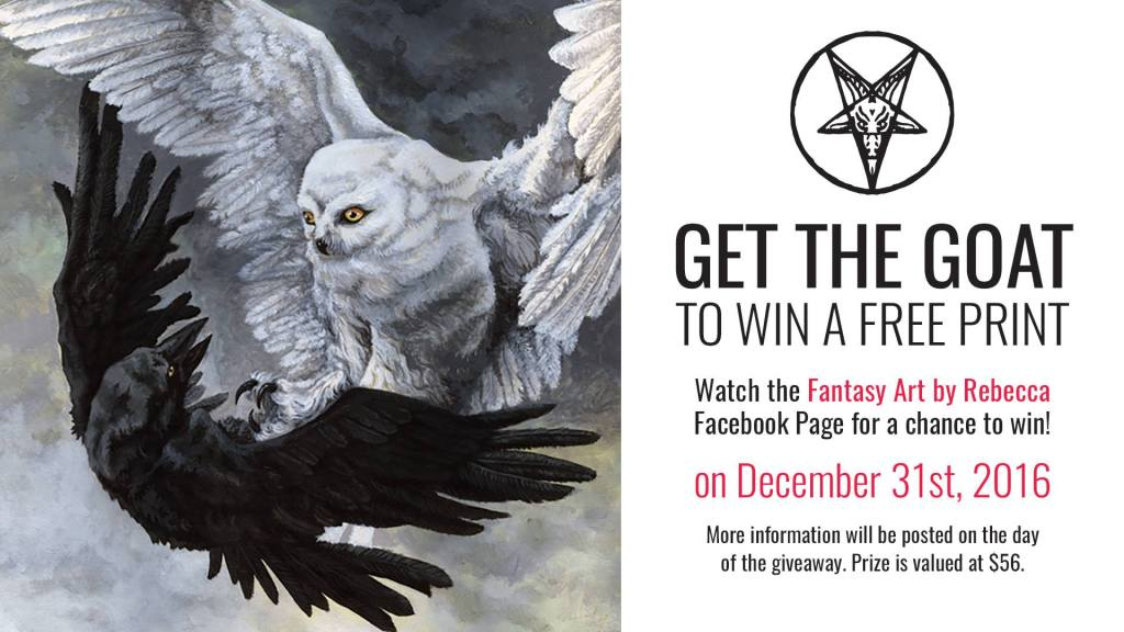 Get the Goat to Win a Free Fine Art Print from Rebecca Magar