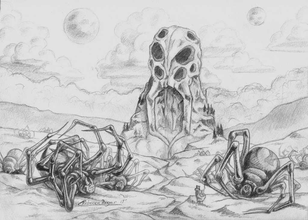 Black Widow Spider Wasteland Sketch by Rebecca Magar