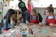 Students Taking Part in Pottery Workshop at Leach Pottery