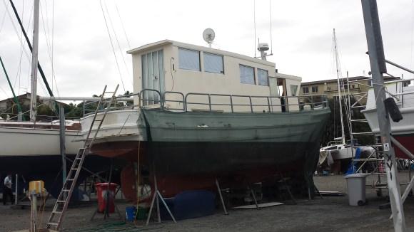 A block of flats boat