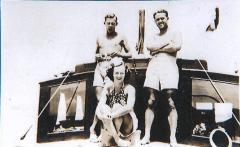 Jan 1938 Cruise. Ken,Irene,Sam