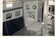 Maroro - interior detail, main cabin looking forward, 1957