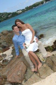 wedding on rock