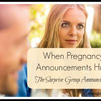 When Pregnancy Announcements Hurt:  The Surprise Group Announcement