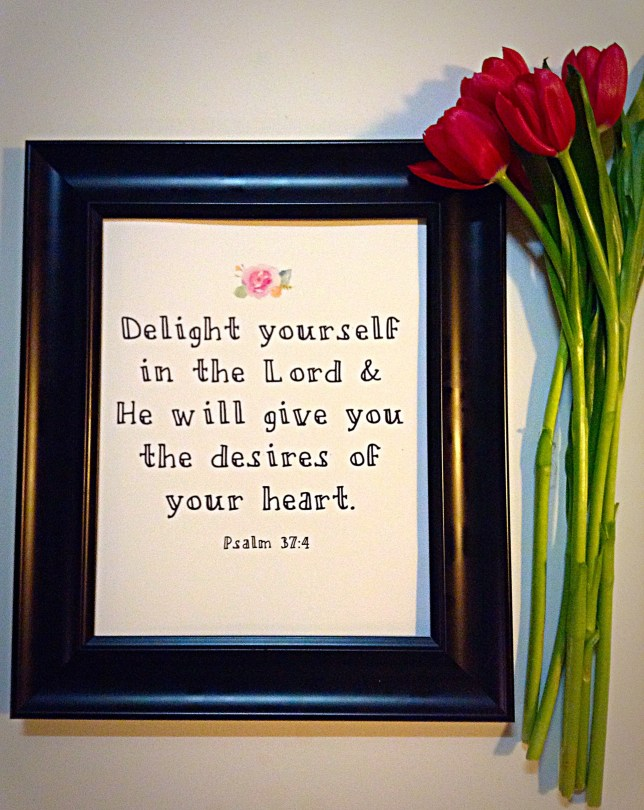 """Delight in the Lord"" Framed Artwork"