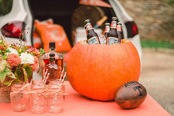 Pumpkin cooler at tailgate