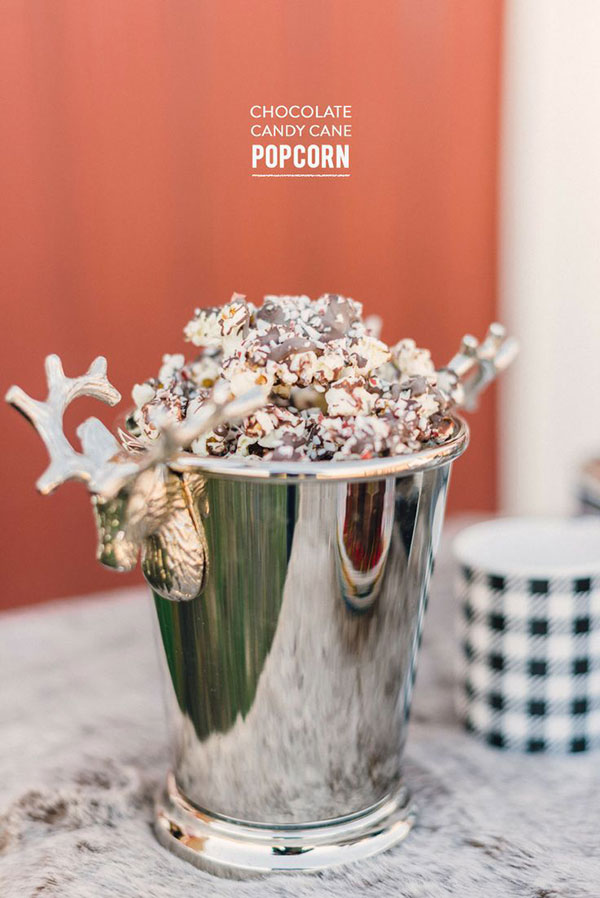 Chocolate Candy Cane Popcorn