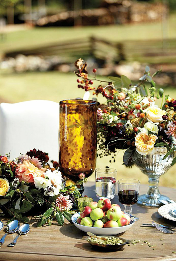 A flower filled Thanksgiving table, Waiting On Martha
