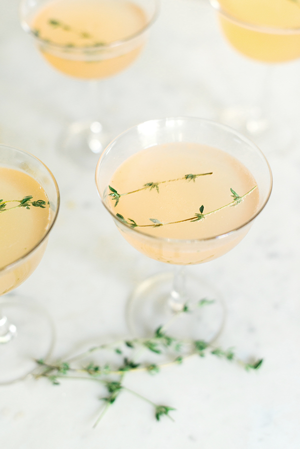 Grapefruit Gin Fizz Cocktail via Waiting on Martha