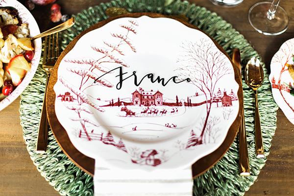 A Winter Wonderland table setting, Waiting on Martha