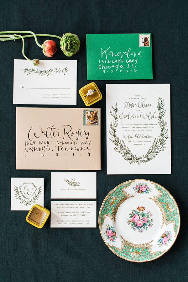 Rustic invitation suite by Marked with Waiting on Martha for The Celebration Society. Rustic White Photography