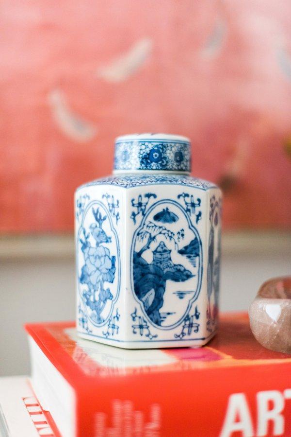 Ginger Jar in One Room Challenge Week Three, Waiting on Martha
