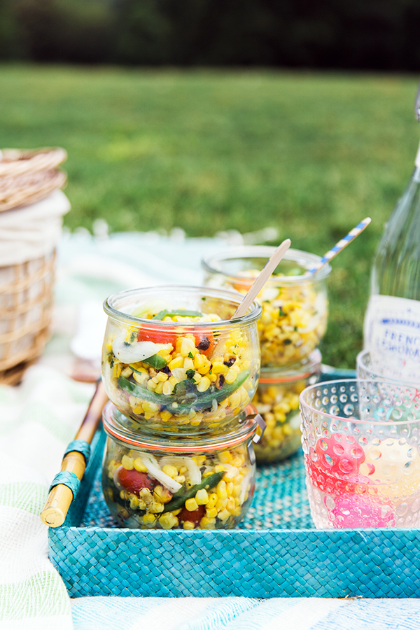 Grilled Corn Salad Recipe at a Picnic