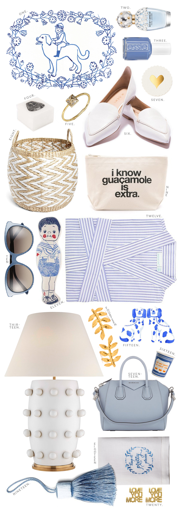 Light blue and white must-have picks for summer, Waiting on Martha