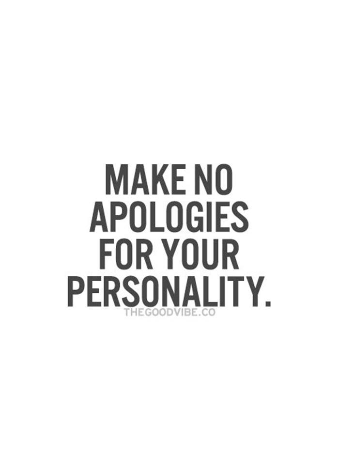 MAKE NO APOLOGIES